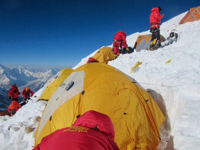 Camp 3 on K2 in 2014. ©www.alanarnette.com