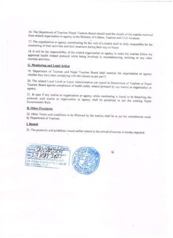Nepal 2021 Quarantine Rule 3 of 3