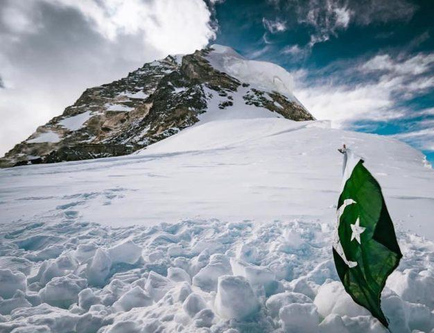 Pakistani Muhammad Ali Sadpara final resting palce burined by his son Sajid Ali Sadpara near Camp 4 on K2 in July, 2021. Courtesy of Sajid Ali Sadpara