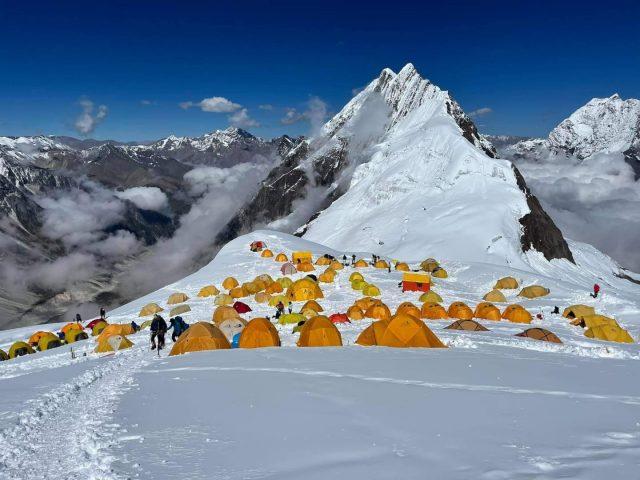 Manaslu Camp 1 in Autumn 2021 courtesy of Pioneer Adventures on